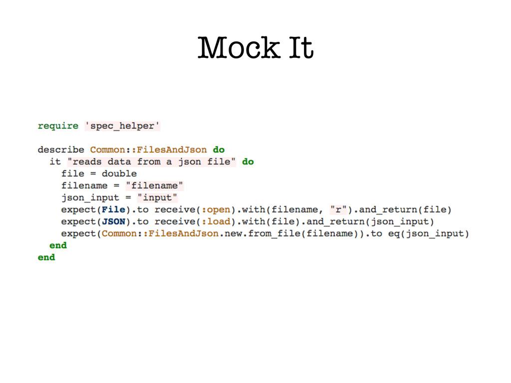 Mock It