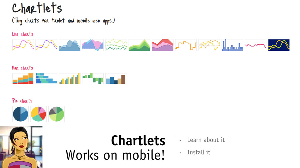 Chartlets Works on mobile! • Install it • Learn...
