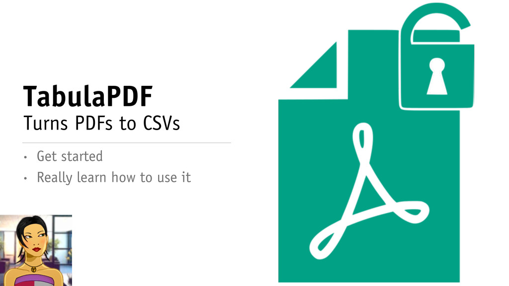 TabulaPDF Turns PDFs to CSVs • Really learn how...