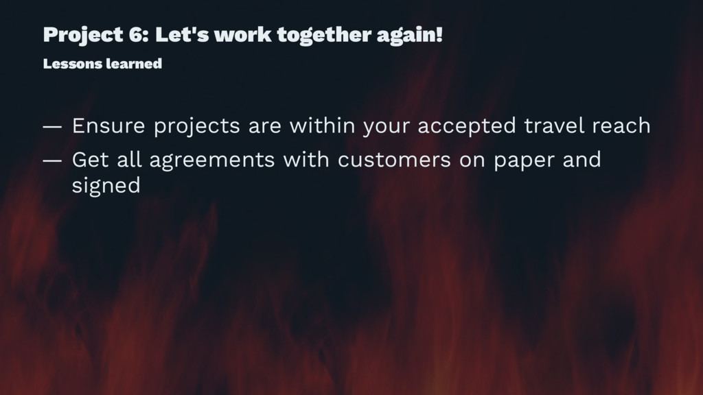 Project 6: Let's work together again! Lessons l...