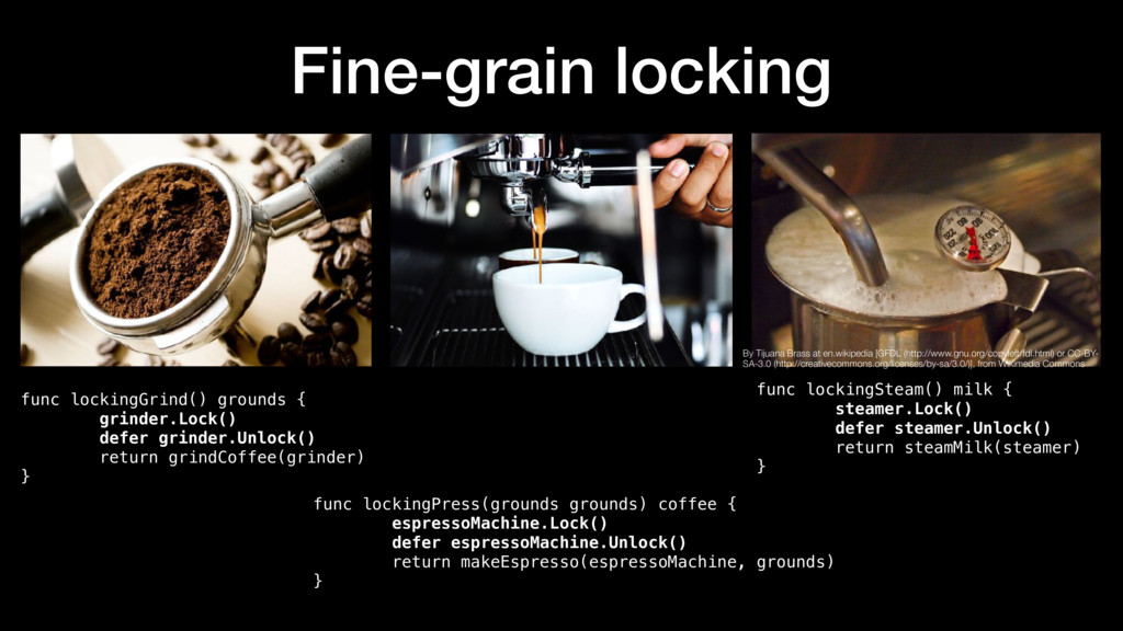 Fine-grain locking func lockingGrind() grounds ...