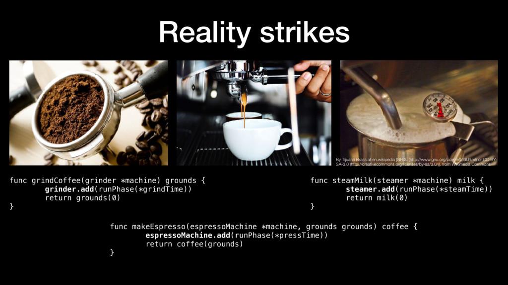Reality strikes func grindCoffee(grinder *machi...