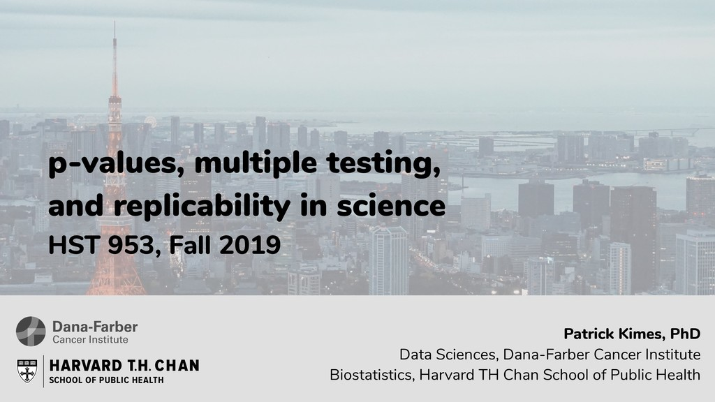 p-values, multiple testing, and replicability i...