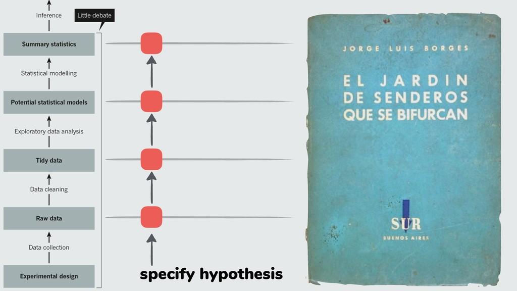 specify hypothesis
