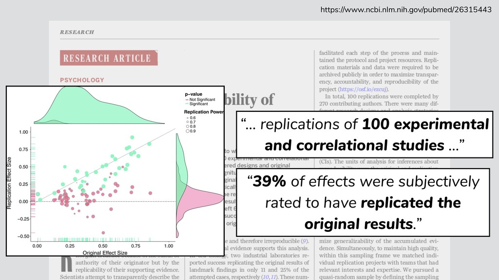"""""""39% of effects were subjectively rated to have..."""