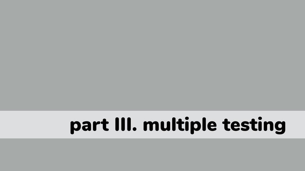 part III. multiple testing