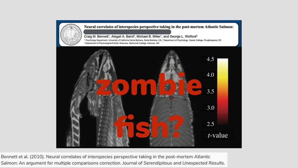 zombie fish? Bennett et al. (2010). Neural corre...