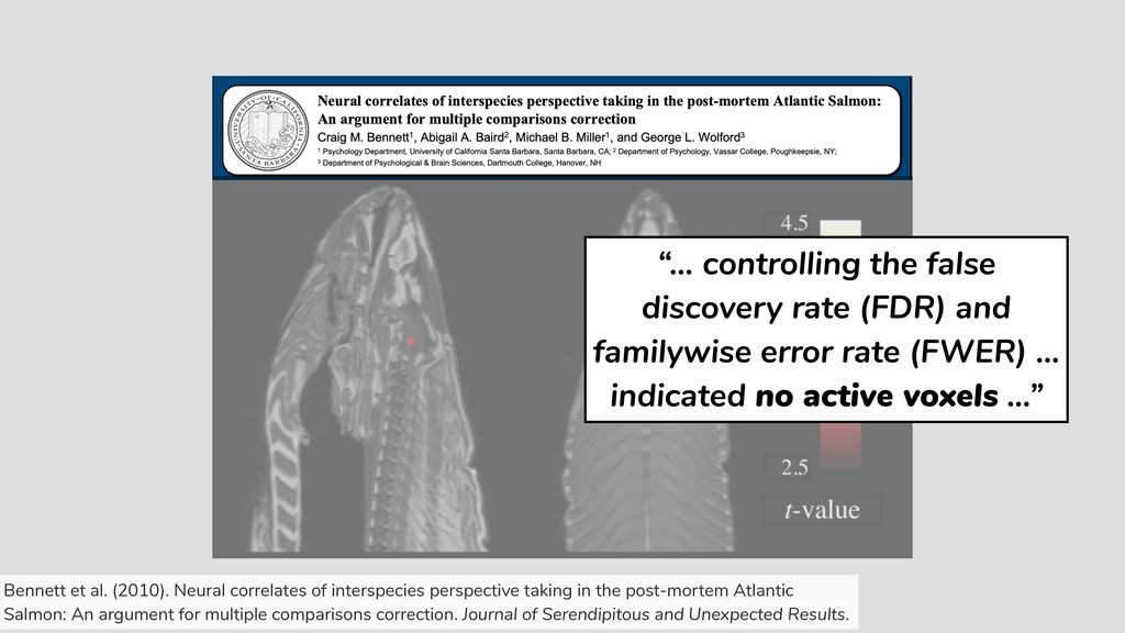 """""""… controlling the false discovery rate (FDR) a..."""