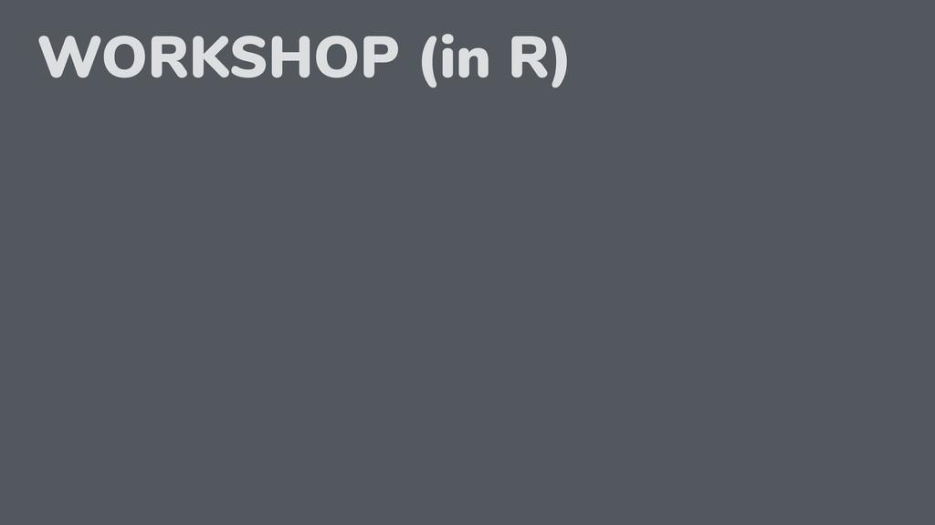WORKSHOP (in R)
