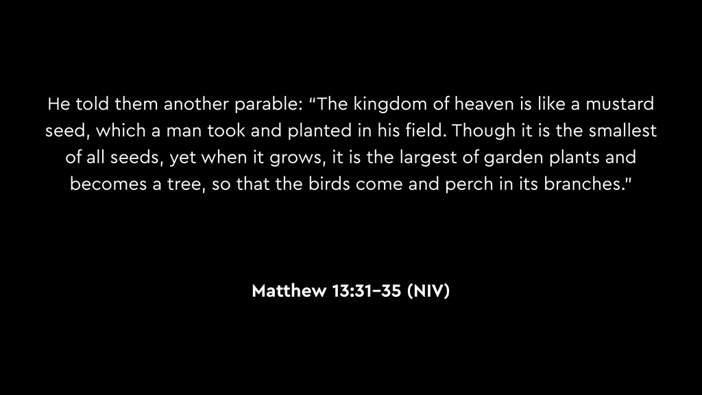 "He told them another parable: ""The kingdom of h..."
