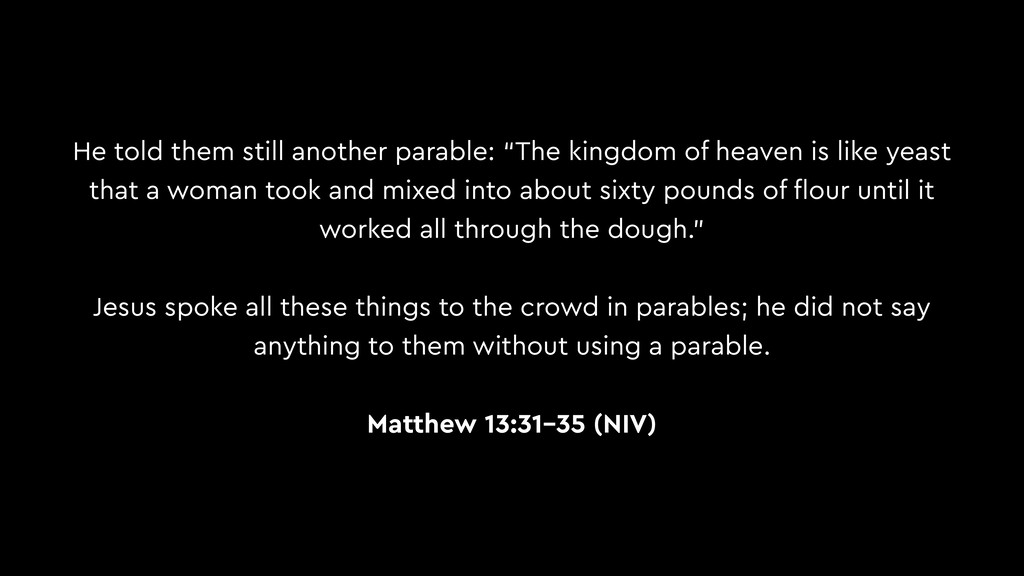 "He told them still another parable: ""The kingdo..."
