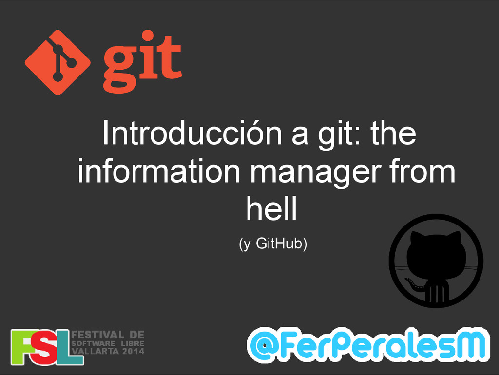 Introducción a git: the information manager fro...