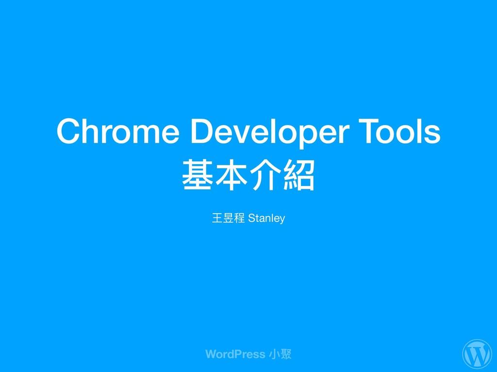 Chrome Developer Tools 基本介紹 王昱程 Stanley WordPre...