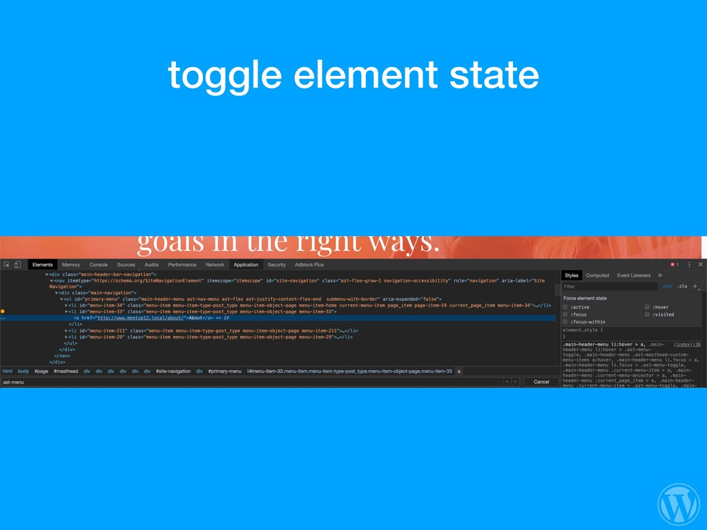 toggle element state