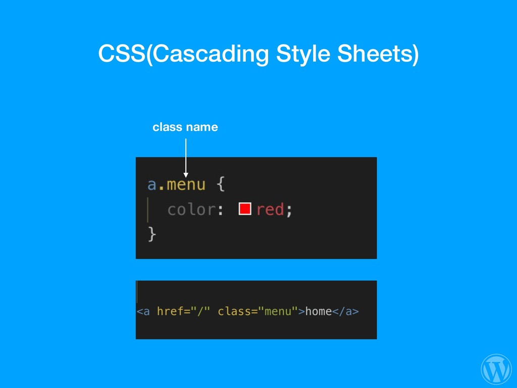 CSS(Cascading Style Sheets) class name