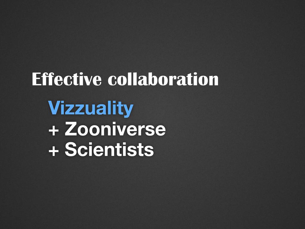 Vizzuality + Zooniverse + Scientists Effective ...
