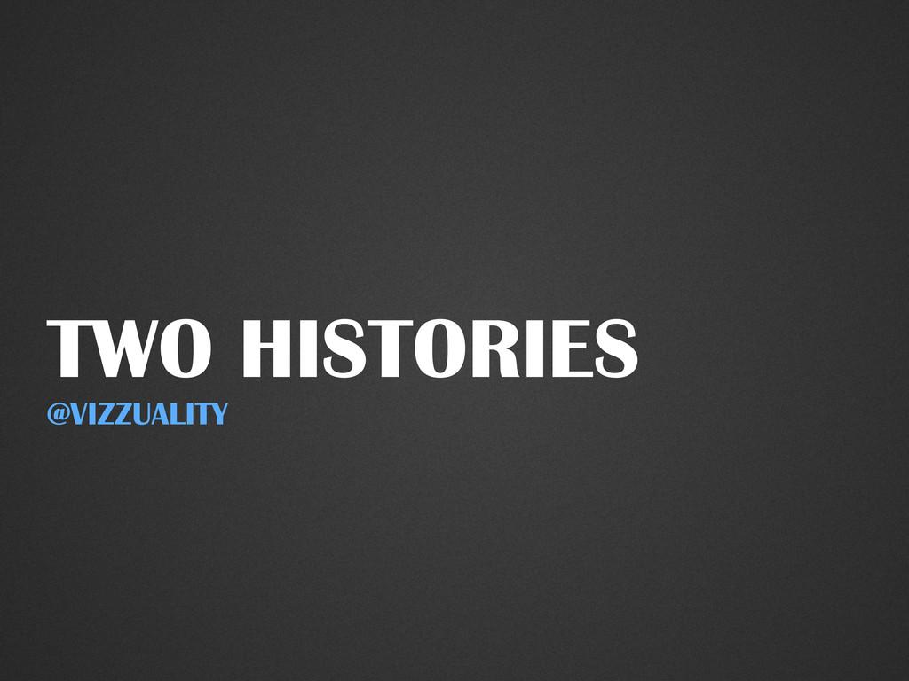 TWO HISTORIES @VIZZUALITY