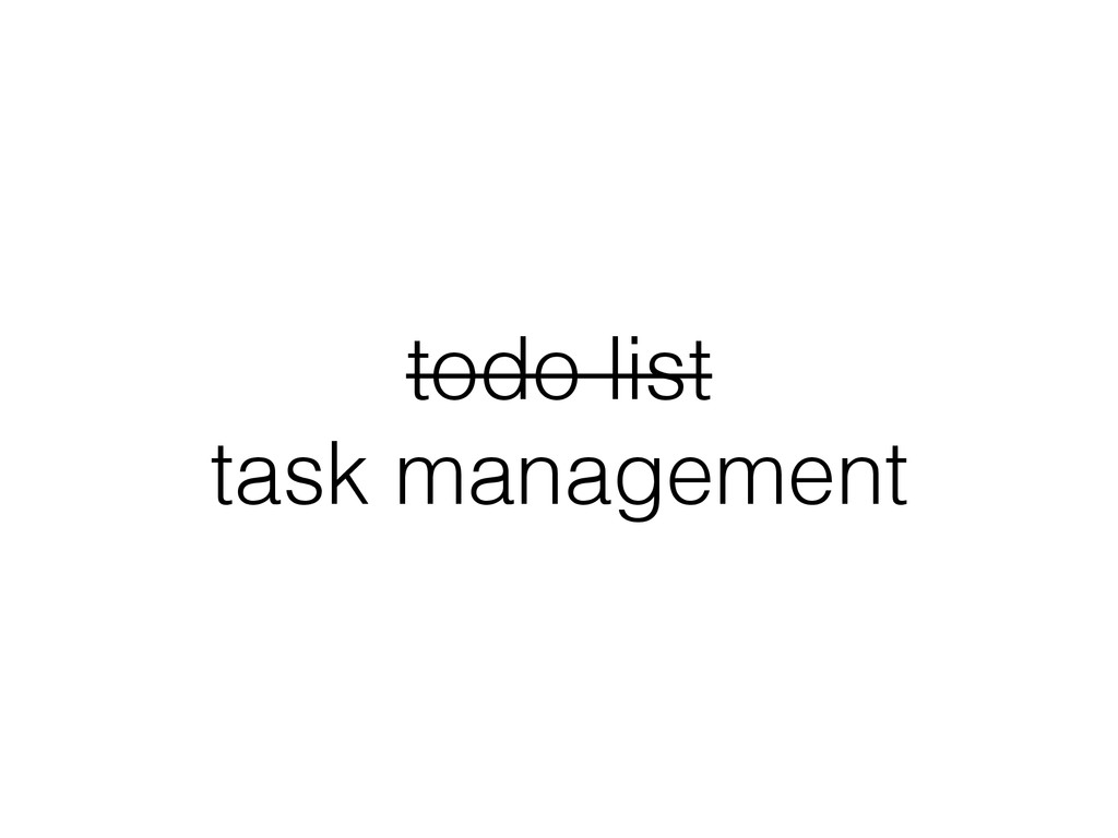 todo list task management