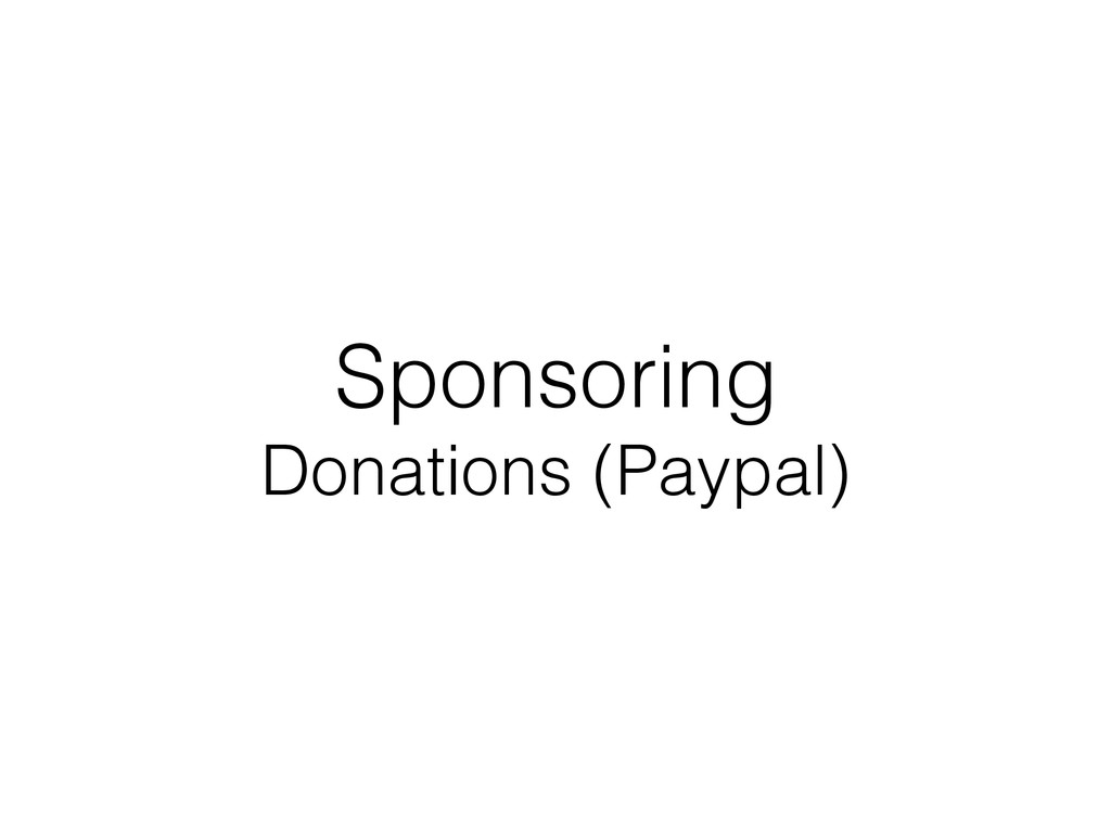 Sponsoring Donations (Paypal)