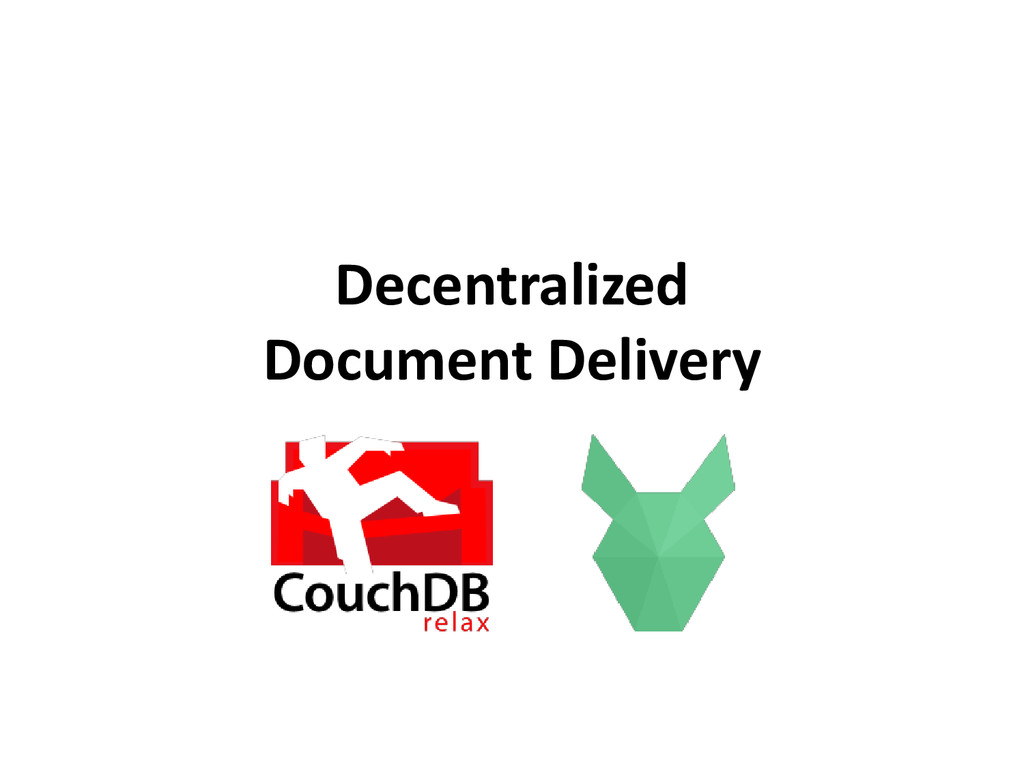 Decentralized Document Delivery