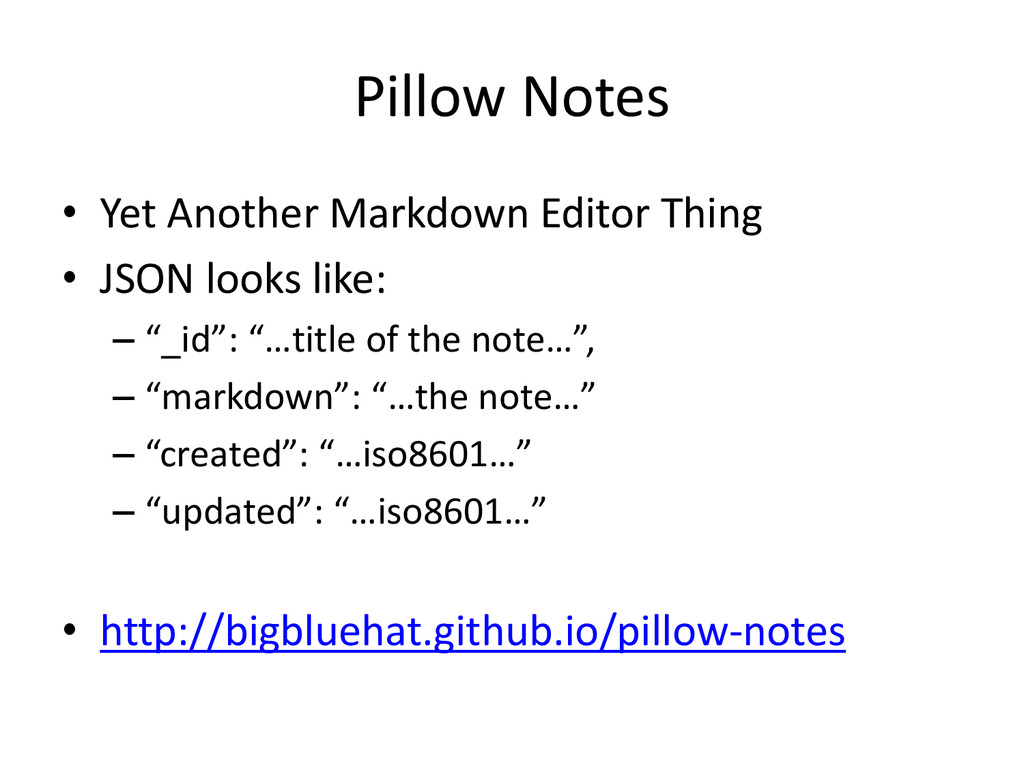 Pillow Notes • Yet Another Markdown Editor Thin...