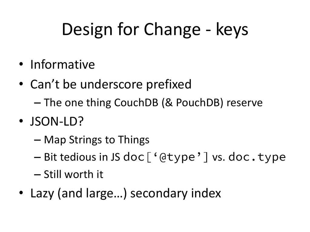 Design for Change - keys • Informative • Can't ...