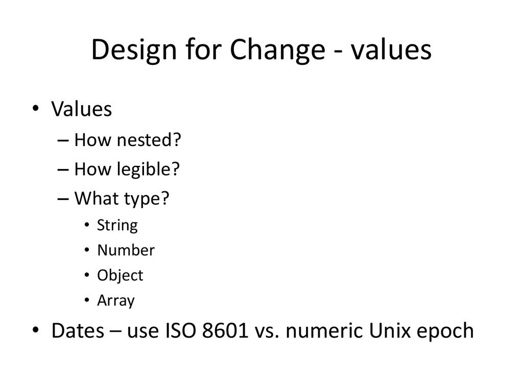 Design for Change - values • Values – How neste...