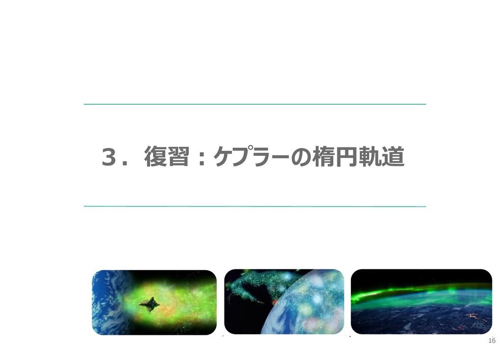 16 3.復習:ケプラーの楕円軌道