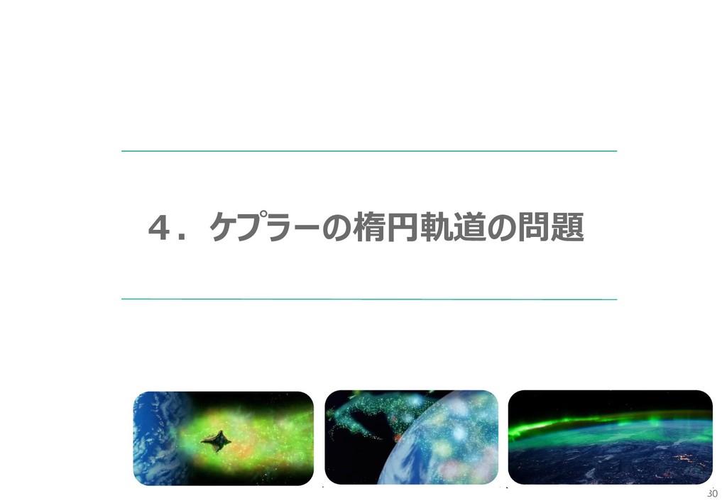 30 4.ケプラーの楕円軌道の問題