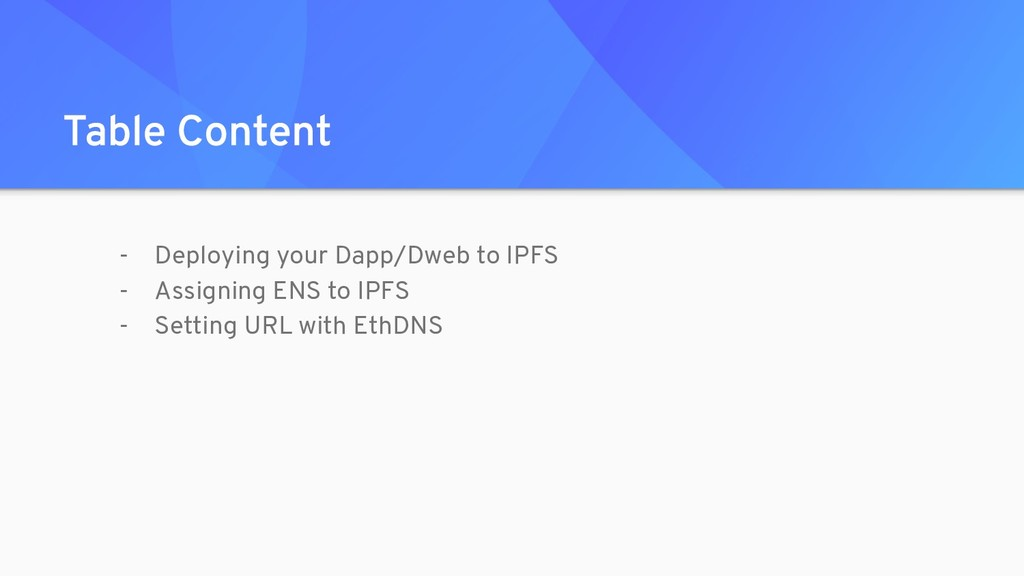 - Deploying your Dapp/Dweb to IPFS - Assigning ...