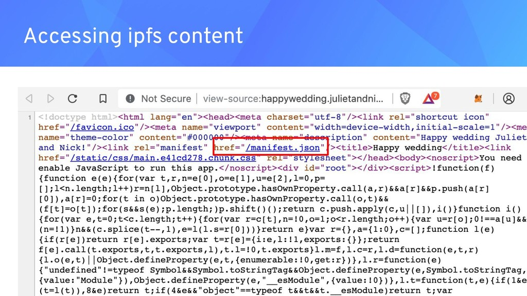 Accessing ipfs content