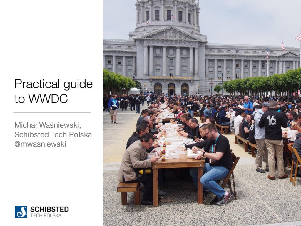 Practical guide to WWDC Michał Waśniewski, Sch...