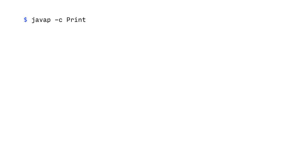 $ javap -c Print