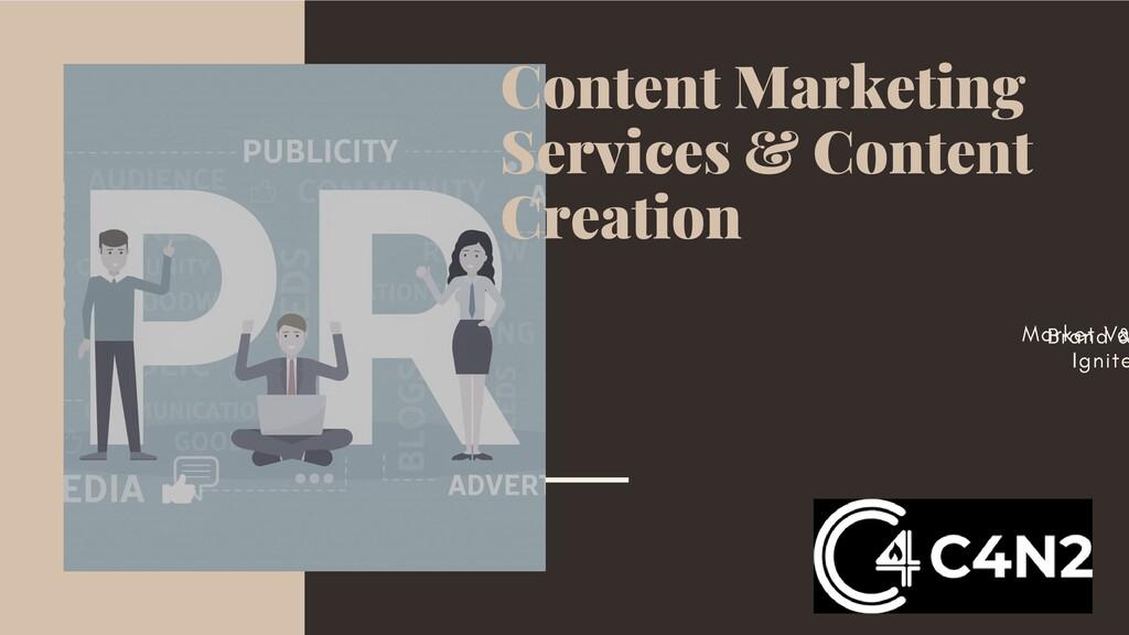 Content Marketing Services & Content Creation