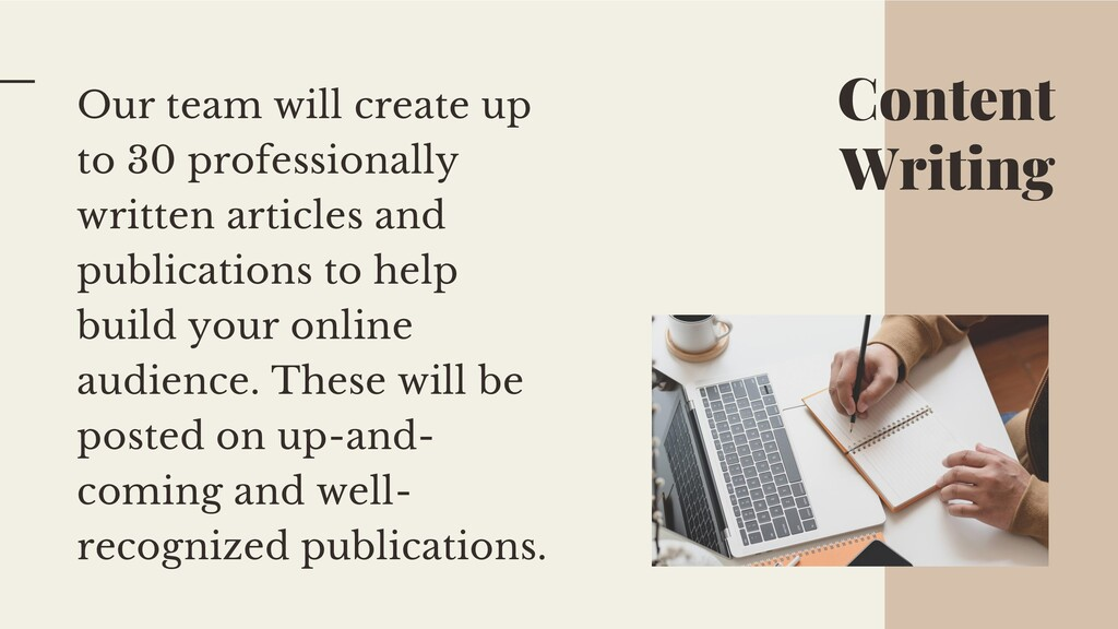 Content Writing Our team will create up to 30 p...