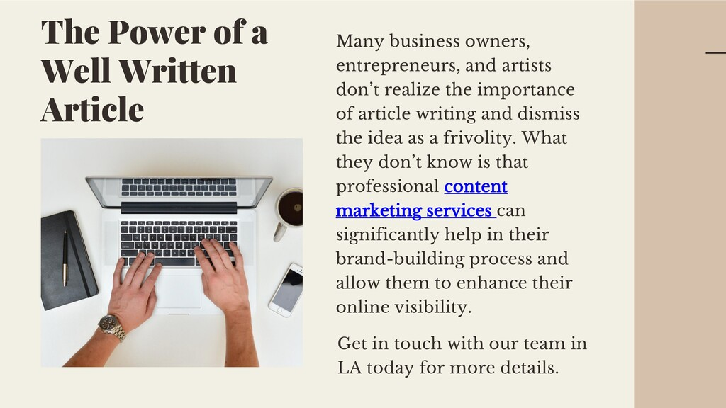 Many business owners, entrepreneurs, and artist...