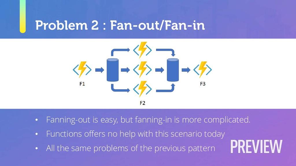 Problem 2 : Fan-out/Fan-in • Fanning-out is eas...