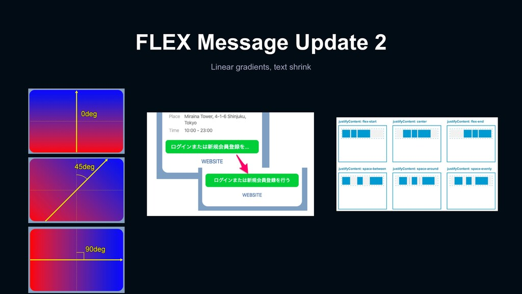 FLEX Message Update 2 Linear gradients, text sh...
