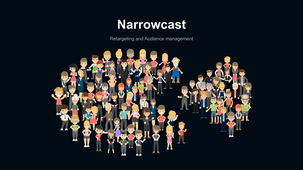 Narrowcast Retargeting and Audience management
