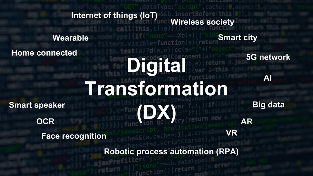 Digital Transformation (DX) Wireless society Sm...