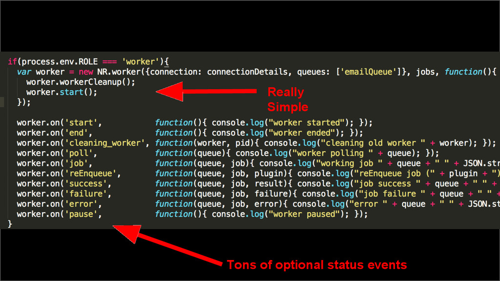 Really Simple Tons of optional status events
