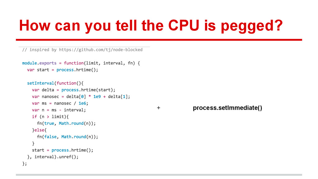 How can you tell the CPU is pegged? + process.s...
