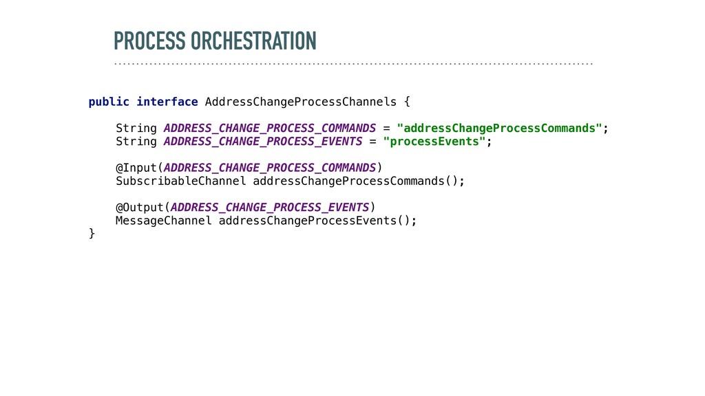 PROCESS ORCHESTRATION public interface AddressC...