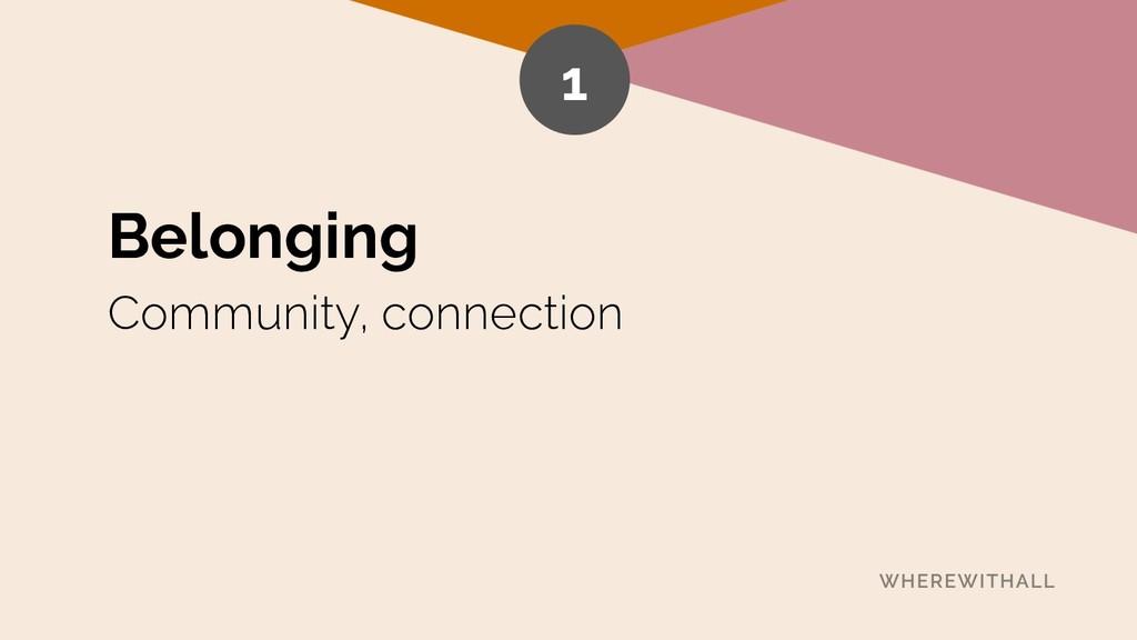 Belonging Community, connection 1