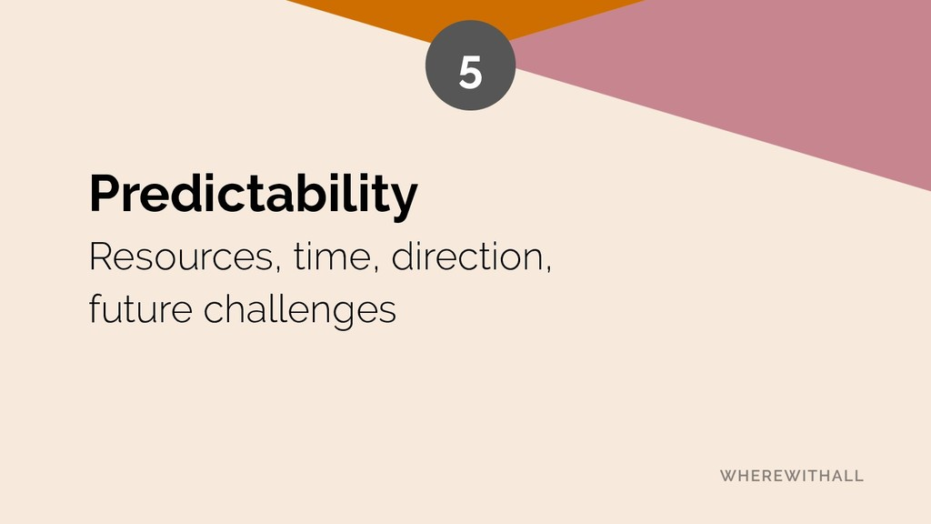 Predictability Resources, time, direction, fut...