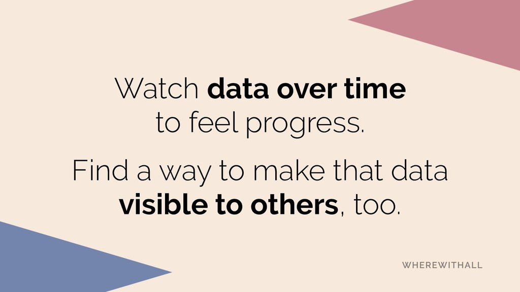 Watch data over time to feel progress. Find a ...