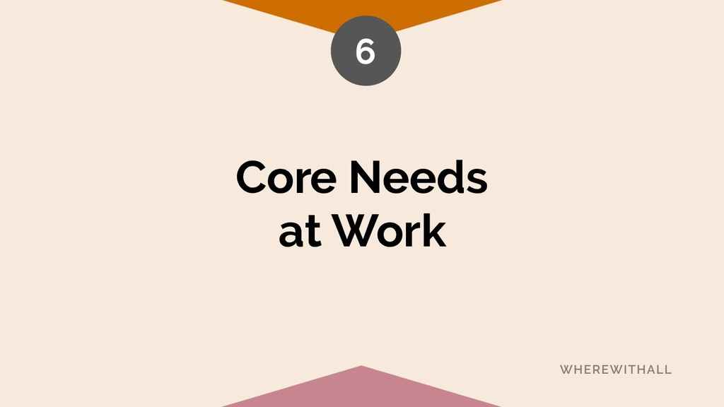Core Needs at Work 6