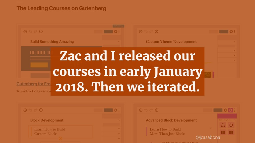 @jcasabona Zac and I released our courses in ea...
