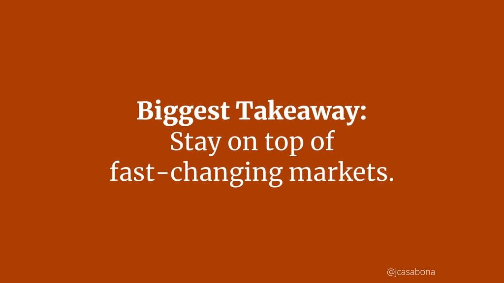 @jcasabona Biggest Takeaway: Stay on top of  f...