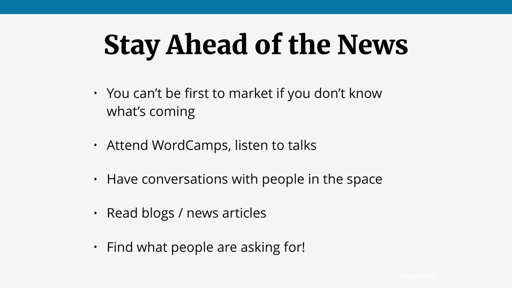 @jcasabona Stay Ahead of the News • You can't b...